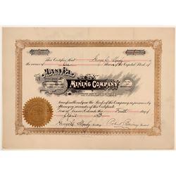 Manvel Mining Company, San Bernardino Very Early Stock  105878