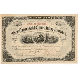 Cisco Consolidated Gold Mining Co. Stock Certificate  106938
