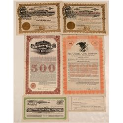 San Benito and Monterey County Stock Certificates (5)  105894