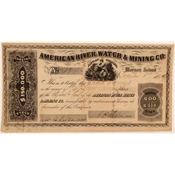 American River Water & Mining Co. Stock Certificate  106787