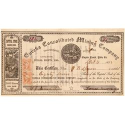 Eureka Consolidated Mining Company Stock Certificate  106942