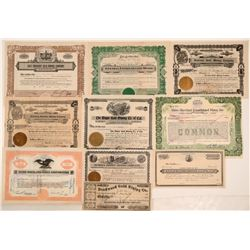 Nevada County Mining Stock Certificates (9)  105805