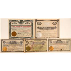 Orange County, California Mining Stock Certificates (5)  106667