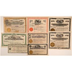 Placer County Mining Stock Certificates (7)  105804