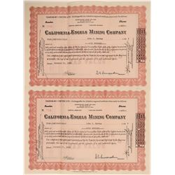 Engles Mine Stock Certificates, 1939  108934