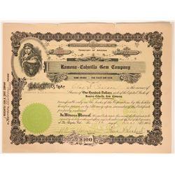 Ramona-Cahuilla Gem Company Stock Certificate  107609
