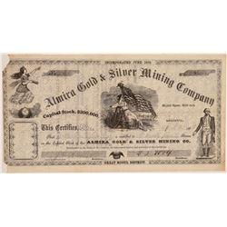 Almira Gold & Silver Mining Company Stock Certificate  106951