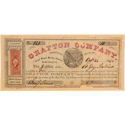 Grafton Company Stock Certificate  106977