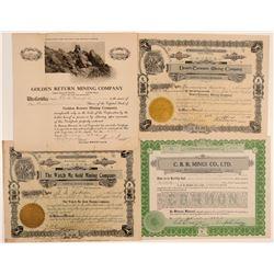 Southern California Desert Mining Stock Certificates (4)  106664
