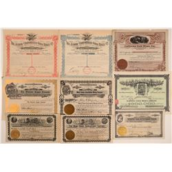Mariposa and Tuolumne Mining Stock Certificates (9)  105807