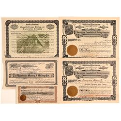 Tuolumne County Mining Stock Certificates  106712