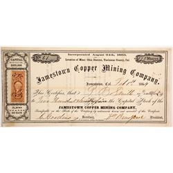 Jamestown Copper Mining Company Stock  90467
