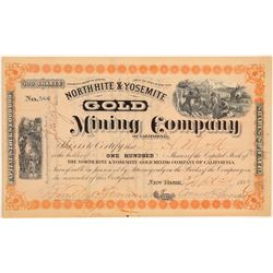 North Hite & Yosemite Gold Mining Company Stock Certificate  106932