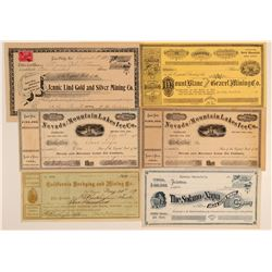 California Mining and Ice Stock Certificates (6)  106849