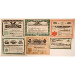 Shasta County Mining Stock Certificates (6)  105898