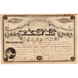 Golden Age Group Mining Company Stock Certificate  106939