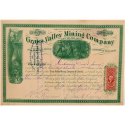 Grass Valley Mining Co. of Colorado Stock Certificate  106973