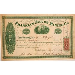 Franklin Silver Mining Company Stock Certificate  107421