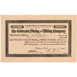 Colorado Mining and Milling Company Stock - Number 2 to D. H. Moffat  105858