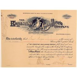 Ernestine Gold Mining Company Stock Certificate  106962