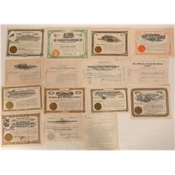Fifteen 1900's Cripple Creek Stock Certificates  105861