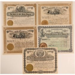 Five 1890's Cripple Creek Stocks (A)  105862
