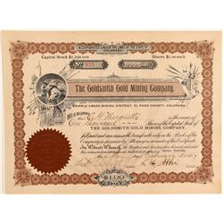 Goldsmith Gold Mining Company Stock Certificate  106954