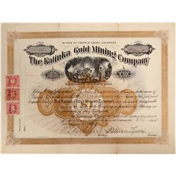 Katinka Gold Mining Company Stock - Rare  105919