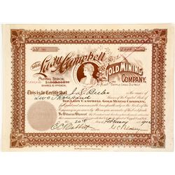 Lady Campbell Gold Mining Co. Stock Certificate, Cripple Creek, CO, 1902  58413