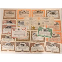 Twenty-one Post 1915 Cripple Creek Socks in including a nice collection of the Golden Cycle  105857