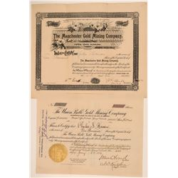 Two 1890's Cripple Creek Stocks for 10,000 shares  105868