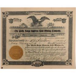 Wells Fargo Express Gold Mining Company Stock  105916
