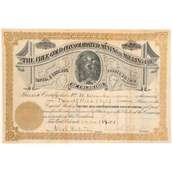 Free Gold Consolidated Mining & Milling Co. Stock Certificate  106969