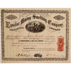 Equator Mining & Smelting Company Stock Certificate  106964