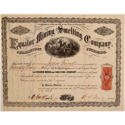 Equator Mining & Smelting Company Stock Certificate  106964