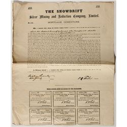 Snowdrift Silver Mining and Reduction Company Stock Certificate  25761