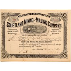 Courtland Mining & Milling Company Stock Certificate  106955
