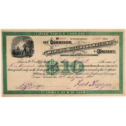 Gunnison Mining, Milling, & Smelting Co. Stock Certificate  106948