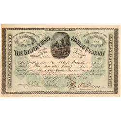 Silver Chord Mining Company Stock Certificate  106850