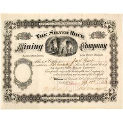 Silver Rock Mining Company Stock Certificate, Leadville, CO, 1881  58541