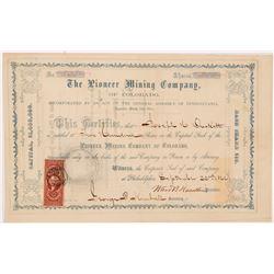 Pioneer Mining Co. of Colorado Stock Certificate  104344
