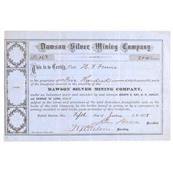 Dawson Silver Mining Company Stock Certificate  107430