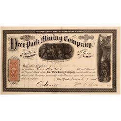 Deer Park Mining Company Stock Certificate  107425