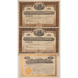 Fall Creek and Fall River, Colorado Stock Certificates  105874