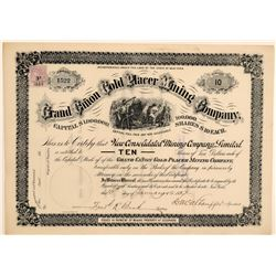 Grand Canon Gold Placer Mining Co. Stock Certificate  106742