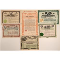 Miscellaneous Eastern US Mining Stock Certificate Group  106767
