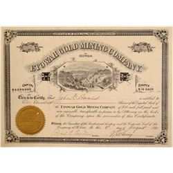Etowah Gold Mining Company Stock Certificate  106961