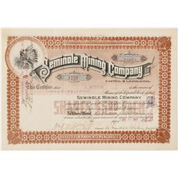 Seminole Mining Company Stock Certificate  56924