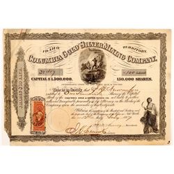 Columbia Gold & Silver Mining Co. Stock Certificate  107076