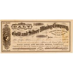 Daly Gold & Silver Mining Company Stock Certificate issued to Daly  106937